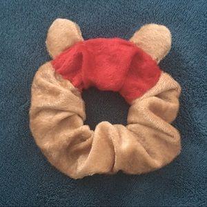 Winnie the Pooh bear ear scrunchie